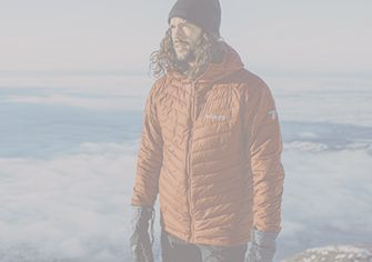 A man in a Columbia insulated mid layer.