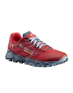 Red and gray Trans Alps F.K.T. II Shoe.