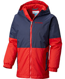 A kids insulated jacket.