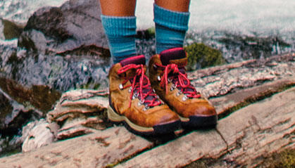 Close-up of Hiking boots..