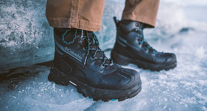 Columbia boots on ice.