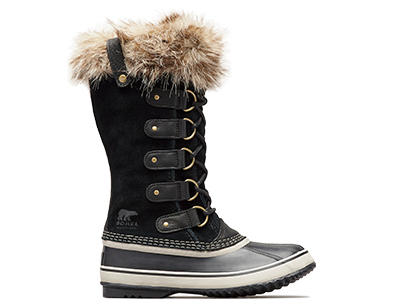 Profile image of a black Joan Of Arctic boot on a white background