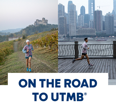 On the road to UTMB. Columbia Montrail athletes Katia Fori and Li Kuo.