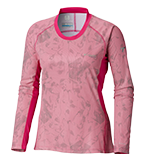 A Titanium long-sleeve shirt for women.