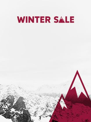 Winter Sale. A snowy mountain landscape.
