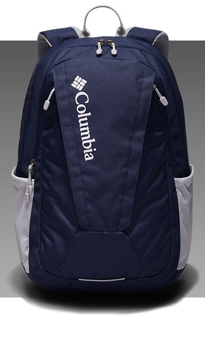 A close-up of a Columbia pack.