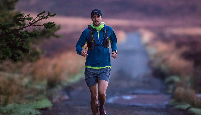 Columbia athlete Joe McConaughy running the Wicklow Round in Ireland.