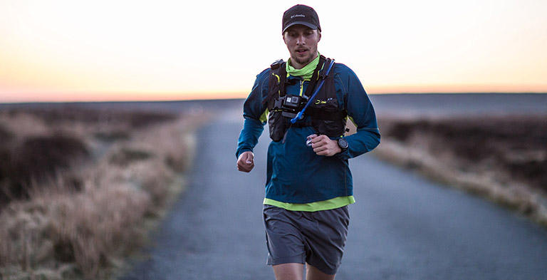 Joe McConaughy running on the Wicklow Round in Ireland.