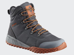 Close-up of a men's cold-weather boot.