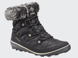 Close-up of a women's cold-weather boot.