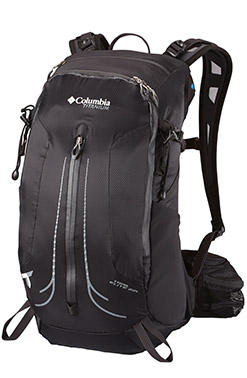 Close-up of a Columbia hiking and trail pack.