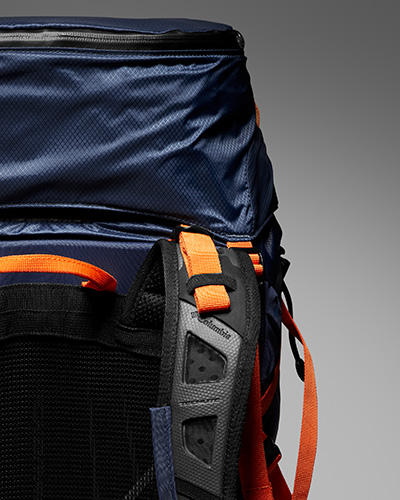 Close-up of a Columbia multi-day pack.