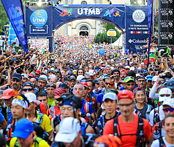 Columbia - Ultra trail du Mont Blanc el despegue 2015