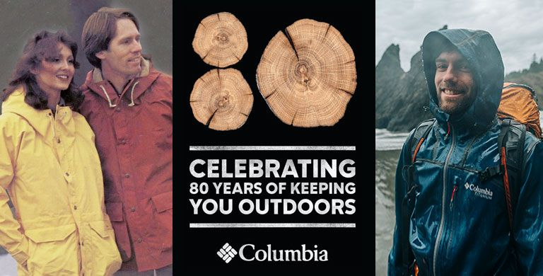 Celebrating 80 years of keeping you outdoors. Historic and modern images of fishermen in Columbia gear.