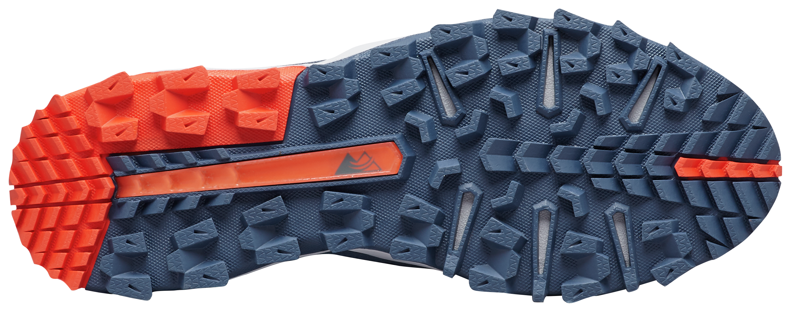 Close-up of a Columbia Montrail shoe undersole.