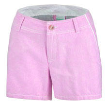 A pair of pink shorts