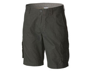 A pair of kaki shorts