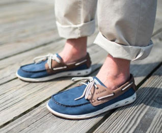 Video still showing a man wearing Dorado CVO PFG shoes.