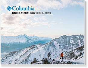 Cover of the 2017 Columbia Corporate Responsibility Report.