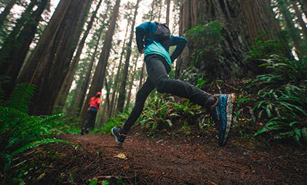 Trail runners with Omni-Wick EVAP gear.