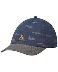 Lost Lager Hat in blue and gray.
