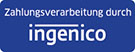 Payment processed by Ingenico logo