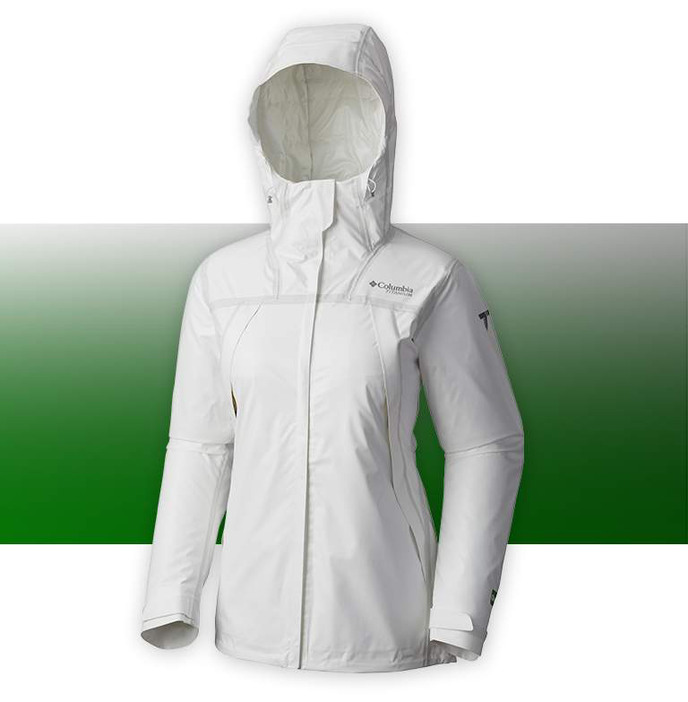 A white OutDry Extreme Eco Insulated jacket on a white background.