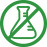 Icon of a stop sign over a science beaker