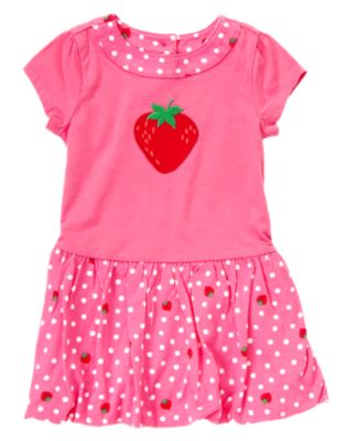 Strawberry Dot Knit Dress