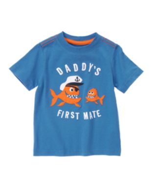 Daddy's First Mate Piranha Captain Tee