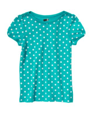 Button Puff Sleeve Tee