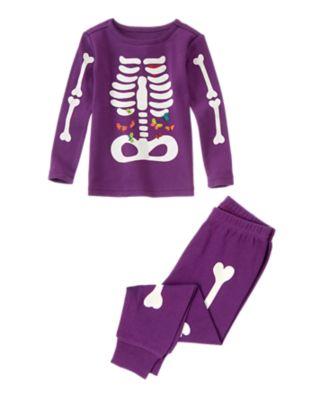 Skeleton Two-Piece Pajama Set