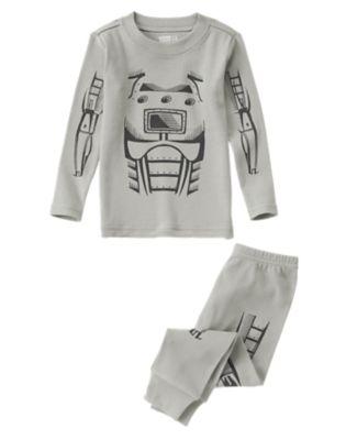 Robot Sleep LS/LB Tight Fit Grey