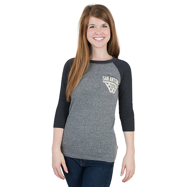 San Antonio Spurs Adidas Womens Internet 3/4 Sleeve Tee