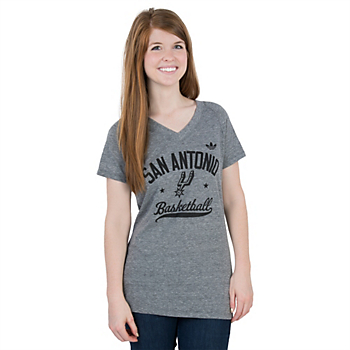 San Antonio Spurs Adidas V-Neck Triblend Street Sweeper Tee