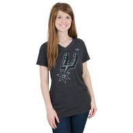 San Antonio Spurs Adidas Bigger Better Logo Deux V-Neck Tee