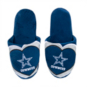Dallas Cowboys Women's Glitter Slide Slipper