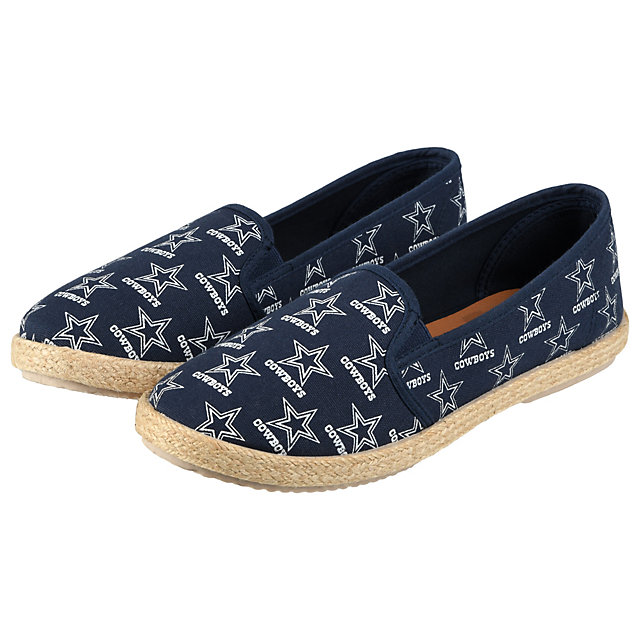 Dallas Cowboys Womens Espadrille Canvas Shoes