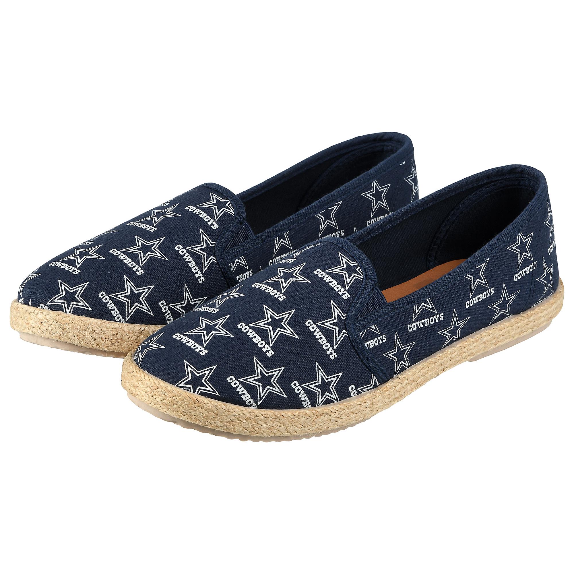 Dallas Cowboys Womens Espadrille Canvas Shoes