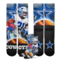 Dallas Cowboys Ezekiel Elliott City Star Socks