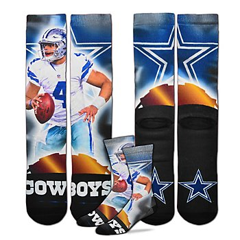 Dallas Cowboys Dak Prescott City Star Socks