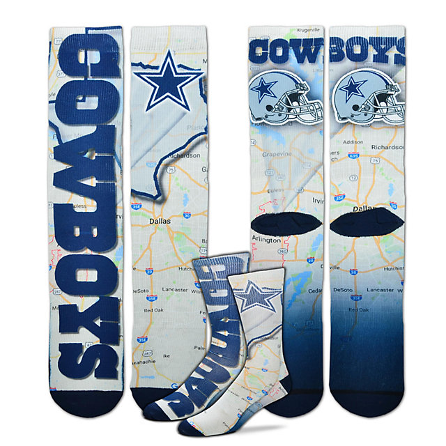 Dallas Cowboys Road Map Socks