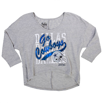 Dallas Cowboys Justice Go Cowboys High Low Tee