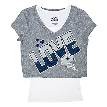 Dallas Cowboys Justice Love Crop Tee