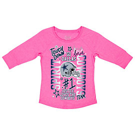 Dallas Cowboys Justice Pink Spirit Tee
