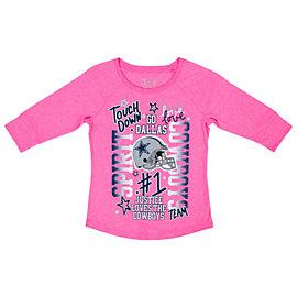 Dallas Cowboys Justice Pink Spirit Tee