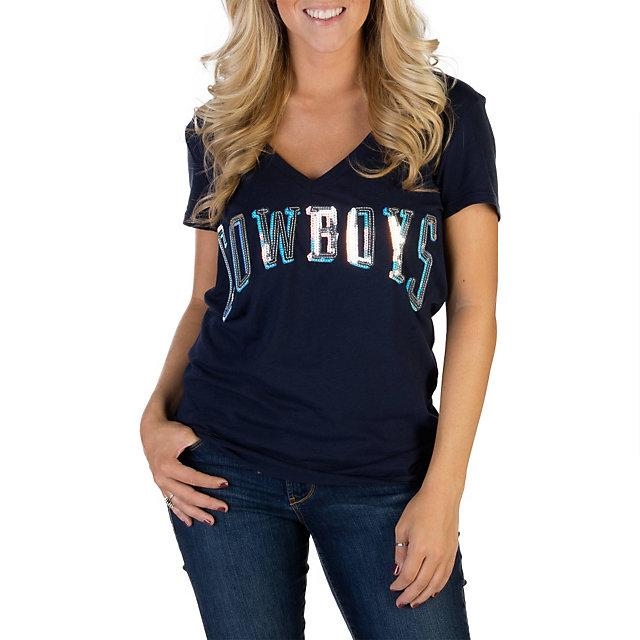 c1f6d4552 ... Jersey Number 82 Dallas Cowboys PINK Bling V-Neck Tee Short Sleeve Tops  Womens Cowboys Catalog Dallas Cowboys ...