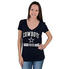 Dallas Cowboys PINK Pride V-Neck Tee