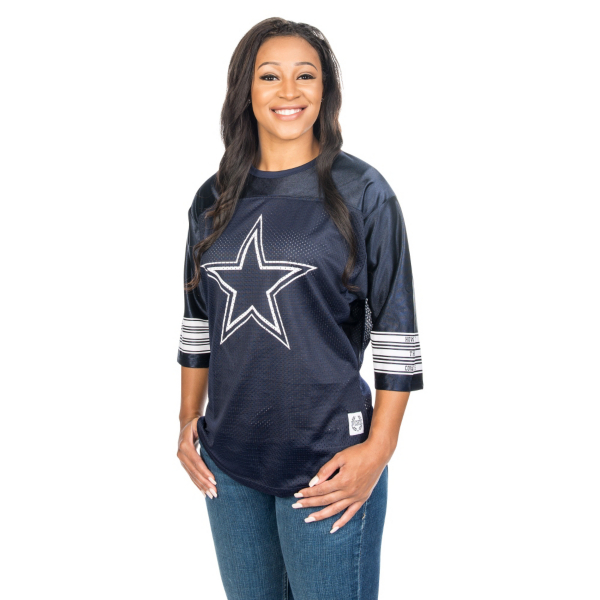 Dallas Cowboys PINK Boyfriend Mesh Jersey