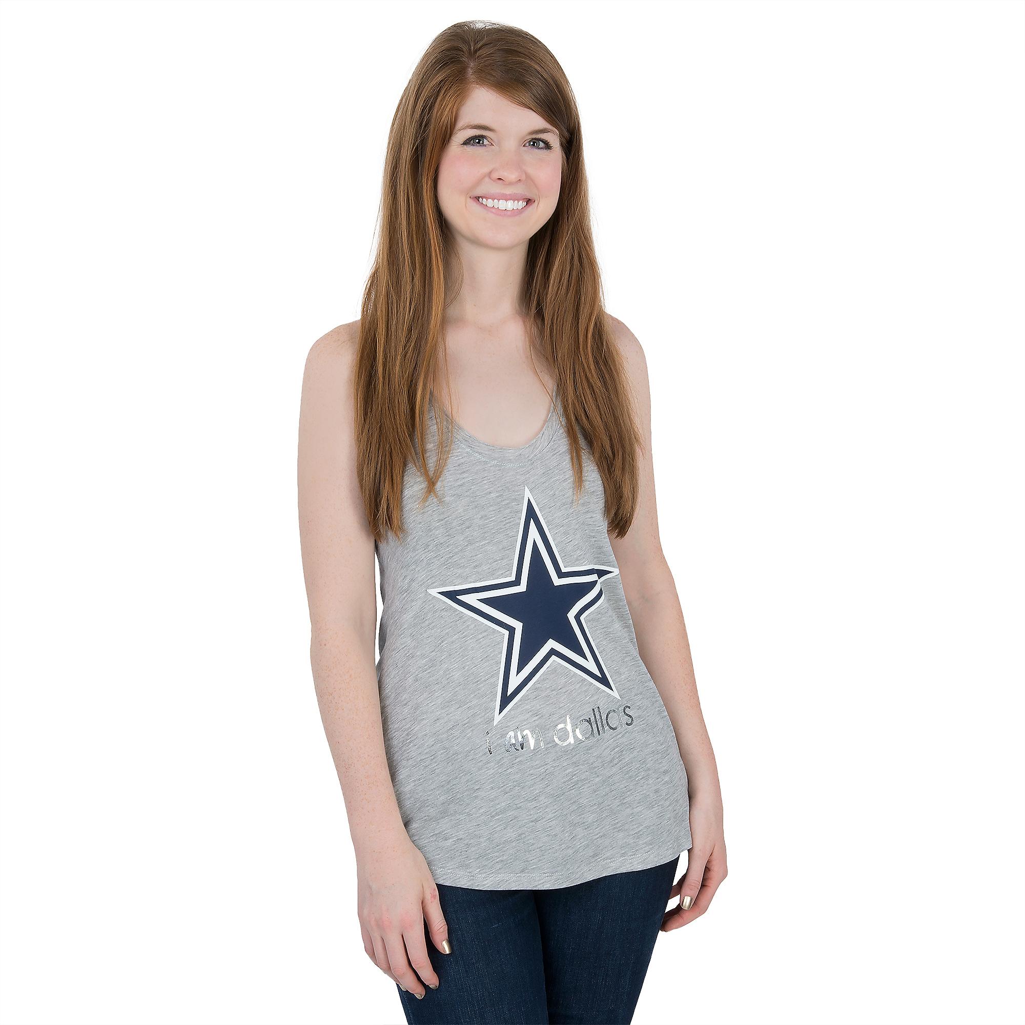 Dallas Cowboys Peace Love World Boyfriend Tank